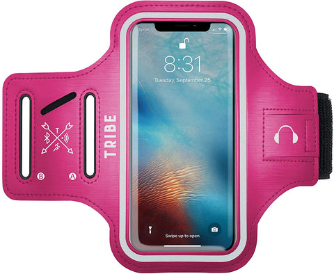 Comrade AB37-X Sports Armband in Dark Pink for Medium Sized Smartphones - Tribe Fitness