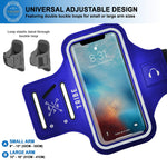 TRIBE Water Resistant Cell Phone Armband Case for iPhone X, Xs, 8, 7, 6, 6S Samsung Galaxy S9, S8, S7, S6, A8 with Adjustable Elastic Band & Key Holder for Running, Walking, Hiking - Tribe Fitness