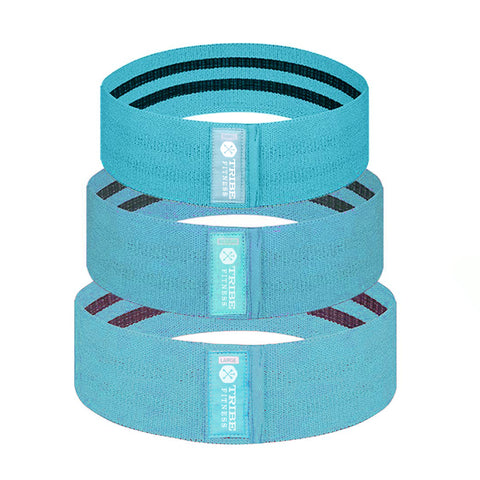 Tribe Premium Hip Bands in Blue or Pink, Up to 200 LBS of Resistance - Tribe Fitness
