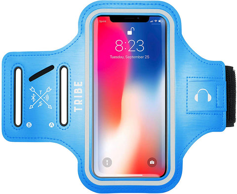 Comrade AB37-X Sports Armband in Light Blue for Medium Sized Smartphones - Tribe Fitness
