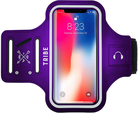 Comrade AB37-X Sports Armband in Purple for Medium Sized Smartphones - Tribe Fitness