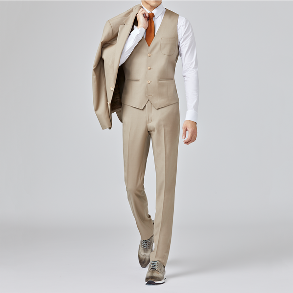 Mt. Pleasant DWR Suit Vest <br> Latte Tan