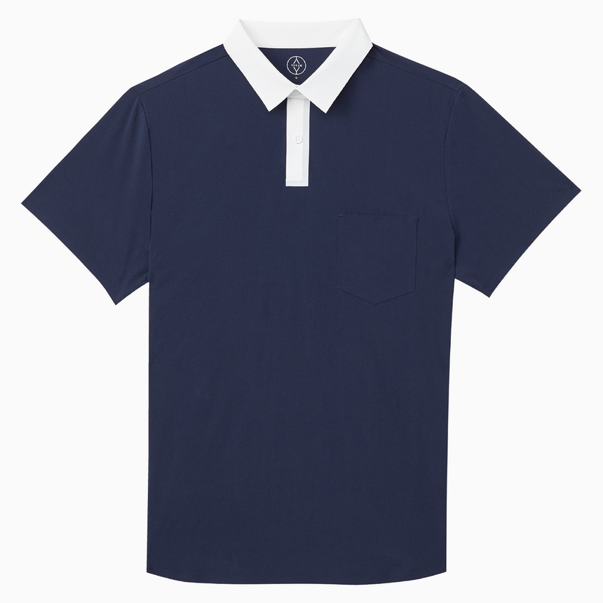 Prospect Point Polo (Nautical Navy, Tundra White)