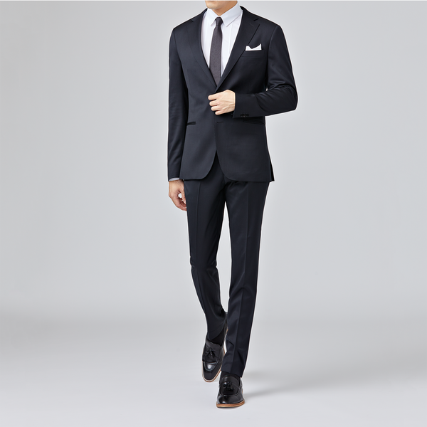 Yaletown DWR Suit Pant <br> Midnight Black