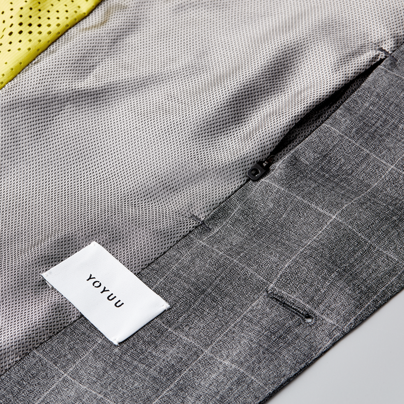 Yaletown DWR Suit Jacket <br> Slate-Grey Checks