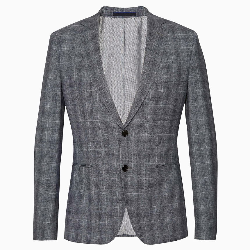 Yaletown DWR Suit Jacket (Slate-Grey Checks)