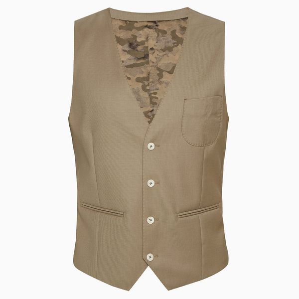 Mt. Pleasant DWR Suit Vest ( Latte Tan)