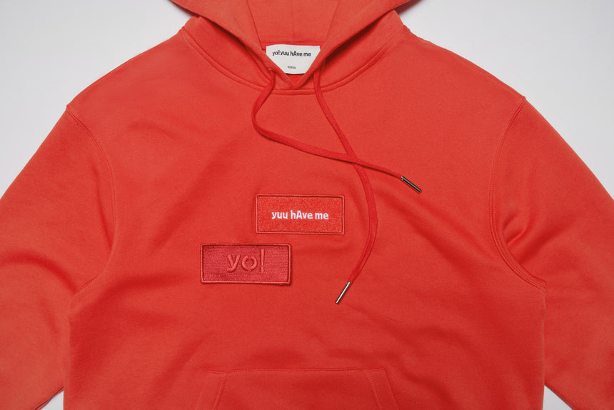 YHM Velcro Patch L/S Hoodie (Red)