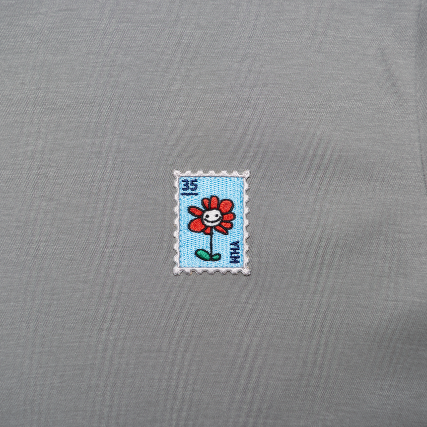 Flower Charm Stamp SS T-Shirt (Grey)