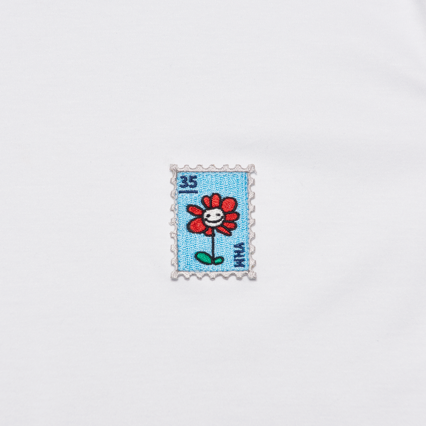 Flower Charm Stamp SS T-Shirt (White)