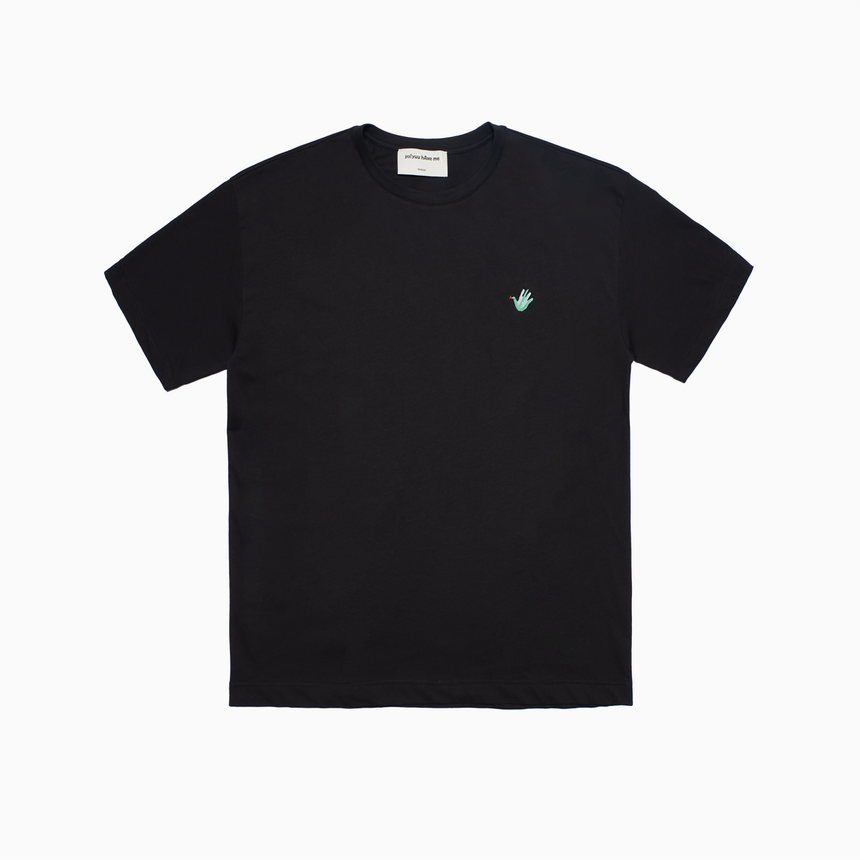 Mini Lucca Embroidered Dove SS T-Shirt (Black)