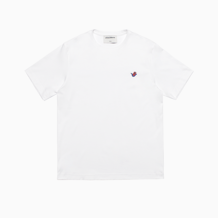 Mini Lucca Embroidered Dove SS T-Shirt (White)