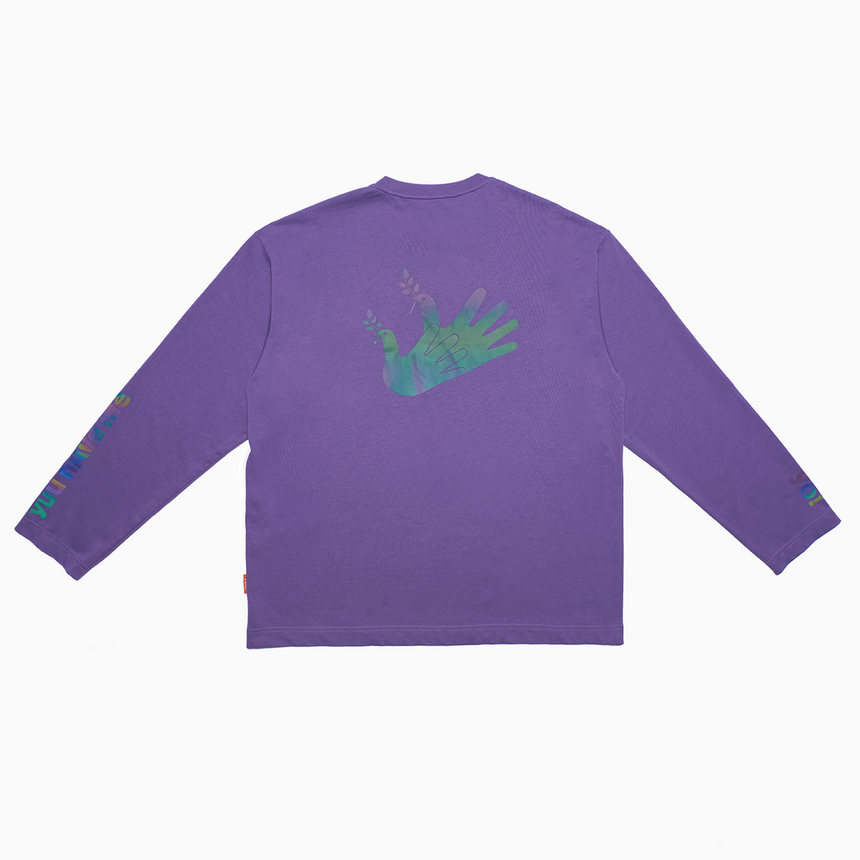 Radiance Reflective L/S Tee (Washed Purple)
