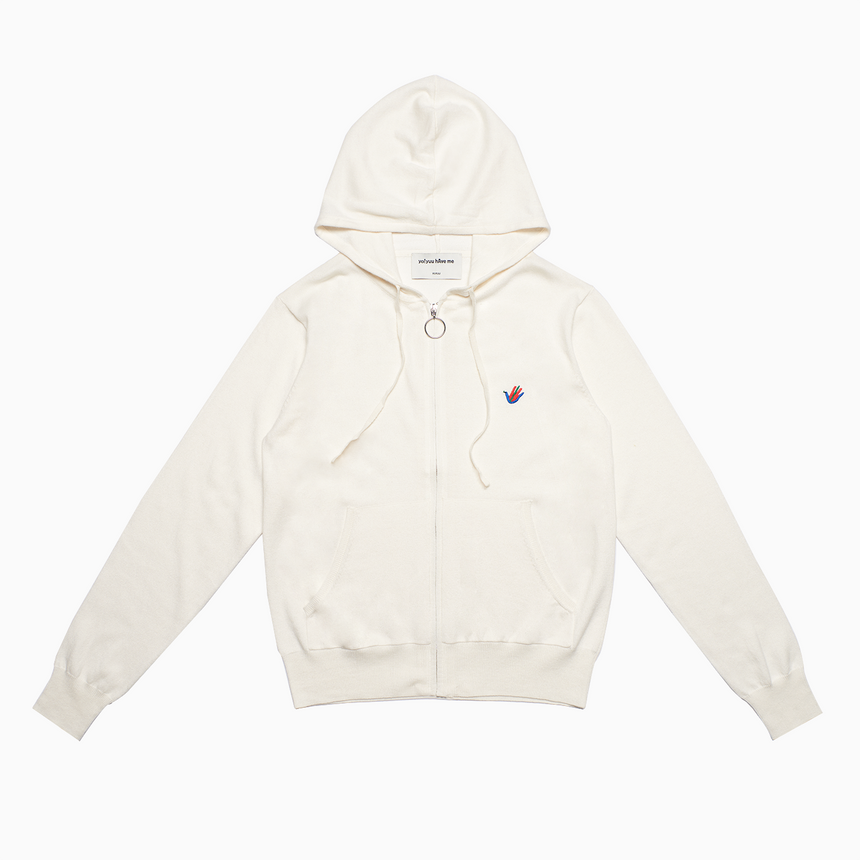 Lucca Zip Hoodie (Off White)