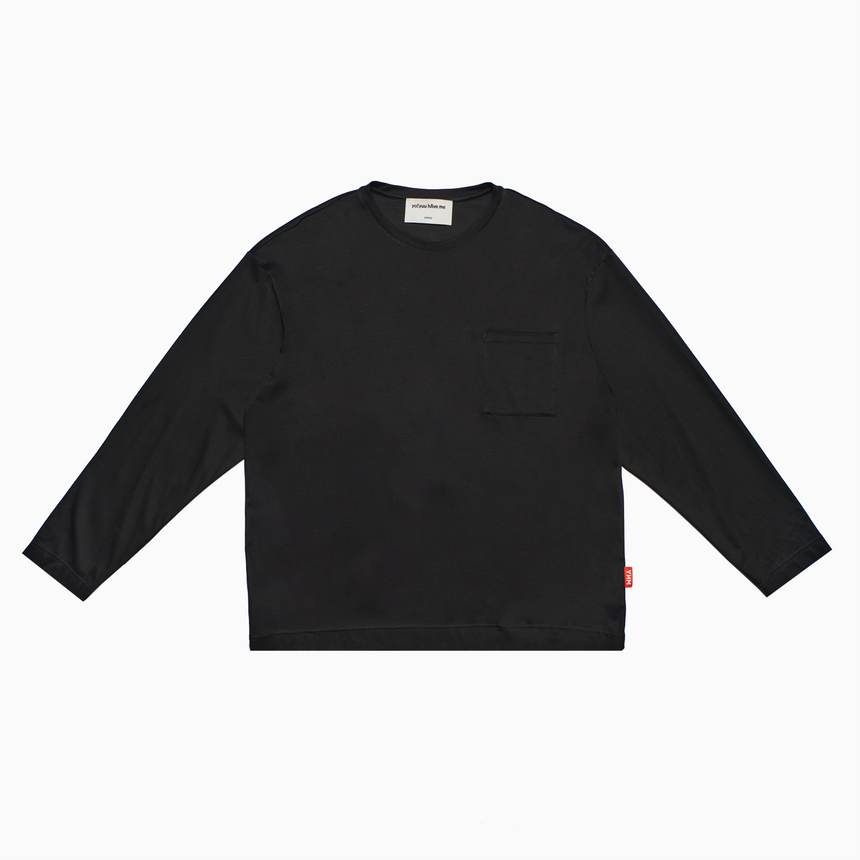 Lucca Pocket L/S Tee (Black)