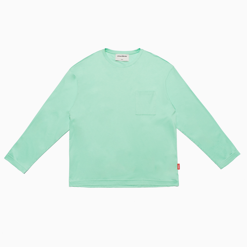 Lucca Pocket L/S Tee (Mint Green)