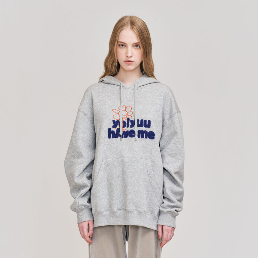 YHM Flower Charm Oversized Hoodie