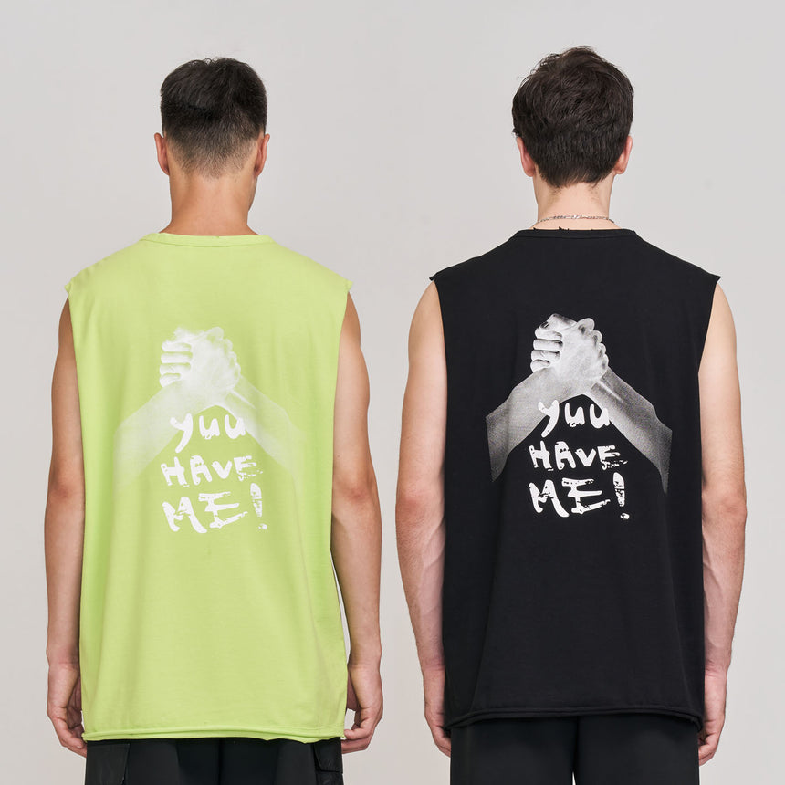 Brethren Muscle Tank (Faded Lime)