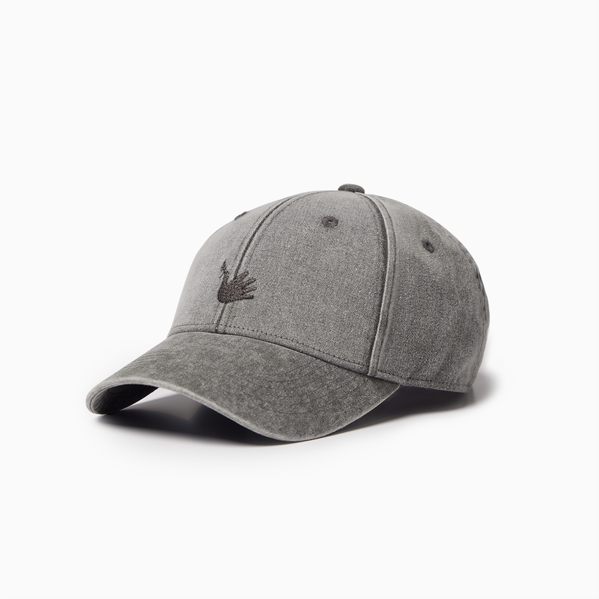 Lucca Embroidered Sports Cap (Washed Grey) (Web Exclusive)