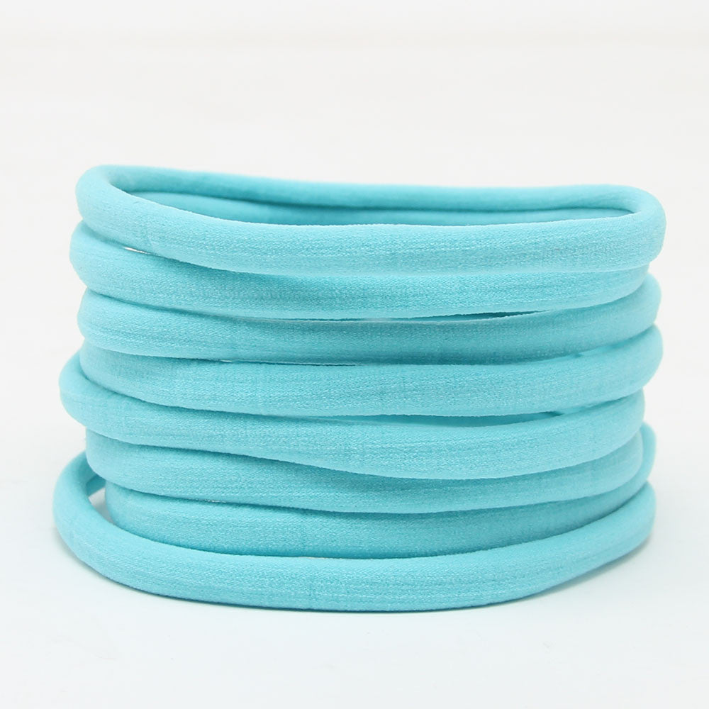 Nylon Headband - Aqua - shabbyflowers.com
