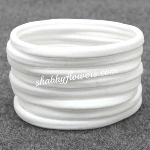Nylon Headband- White