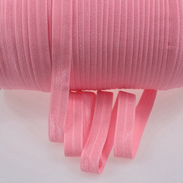 Solid Foldover Elastic- Light Pink - shabbyflowers.com