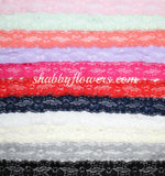 "1"" Lace Elastic Pack of 9 Colors - shabbyflowers.com"