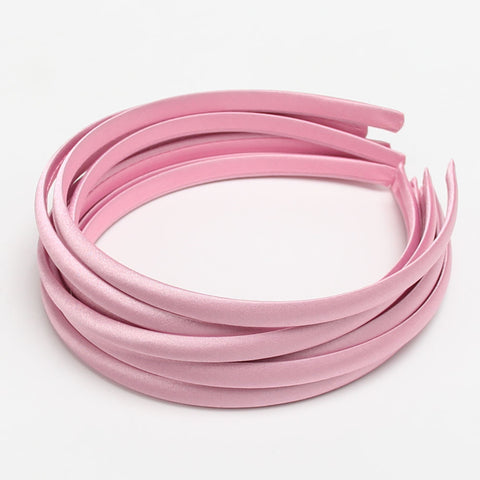 Satin COVERED Headband- Pale Pink