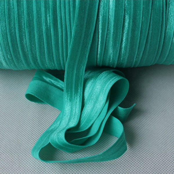 Solid Foldover Elastic- Tiffany Blue - shabbyflowers.com