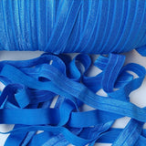 Solid Foldover Elastic- Royal Blue - shabbyflowers.com