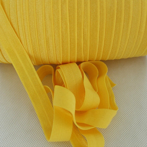 Solid Foldover Elastic- Canary