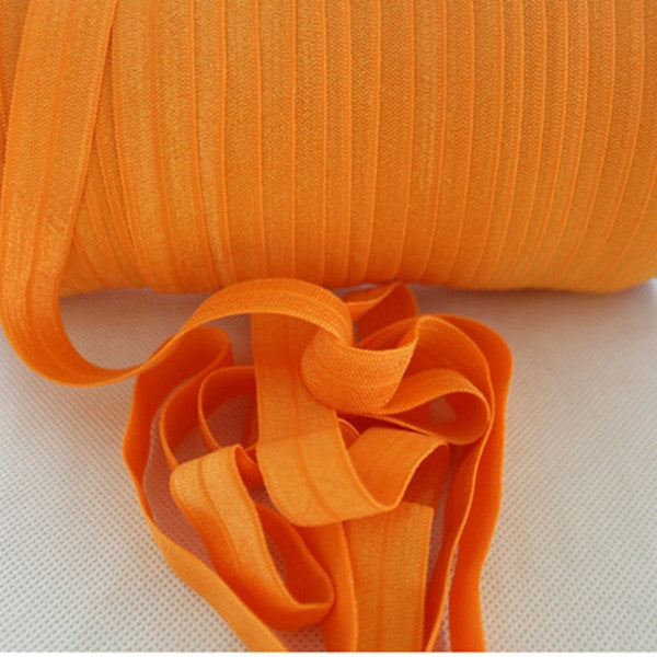 Solid Foldover Elastic- Orange - shabbyflowers.com
