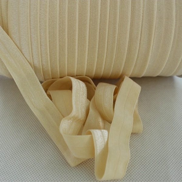 Solid Foldover Elastic- Cream - shabbyflowers.com