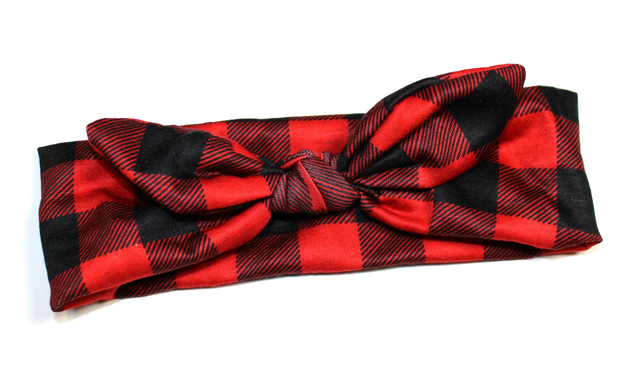 Knot Headband - Buffalo Plaid - Size Regular - shabbyflowers.com
