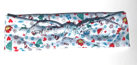 Knot Headband- Christmas Print - Small