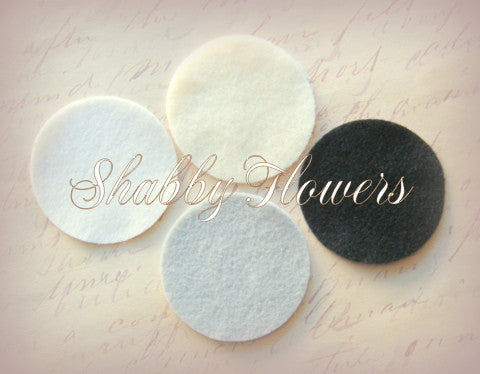Felt Circles - 2 Inch (6 Per Sheet) - shabbyflowers.com