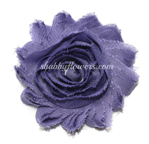 Shabby Chiffon Flower - Dusty Plum