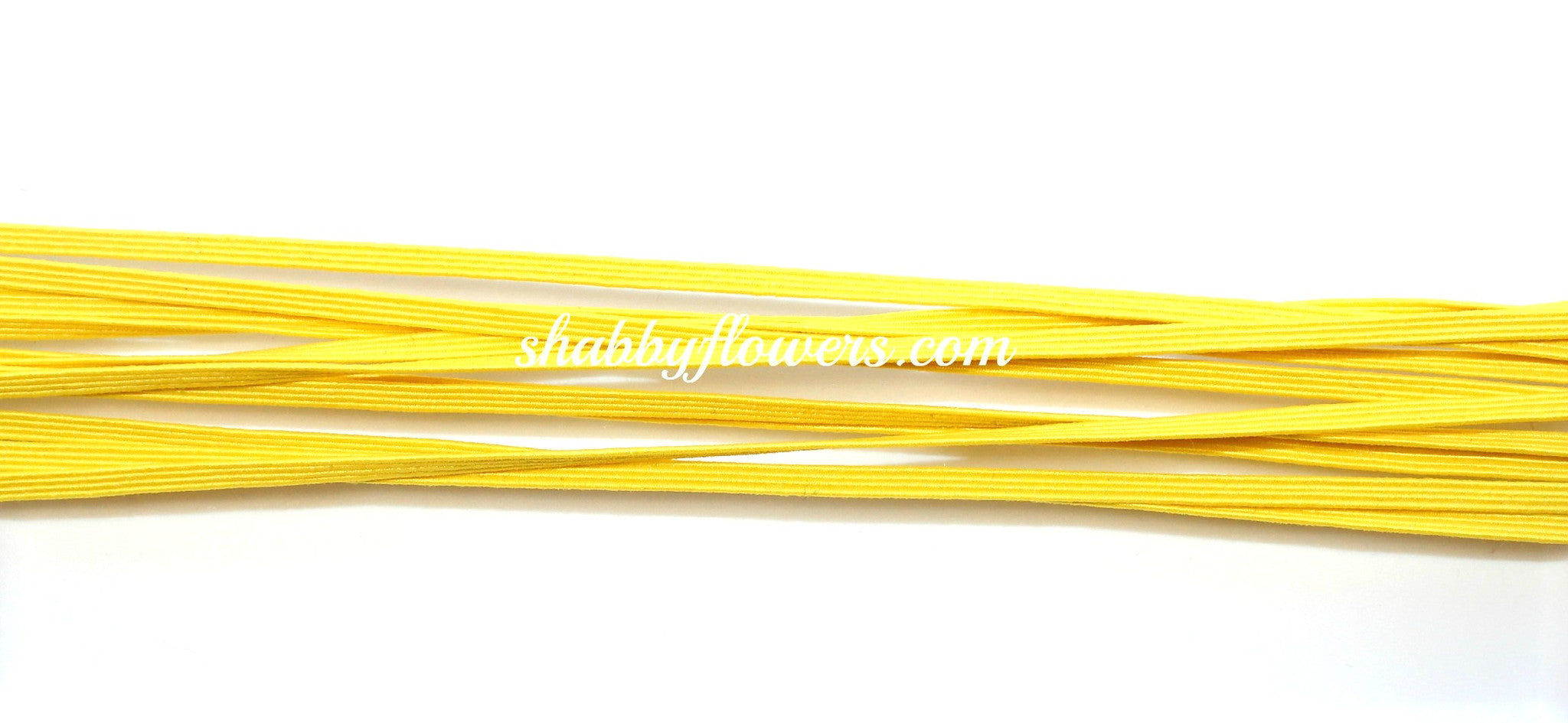 Skinny Elastic - Yellow - shabbyflowers.com