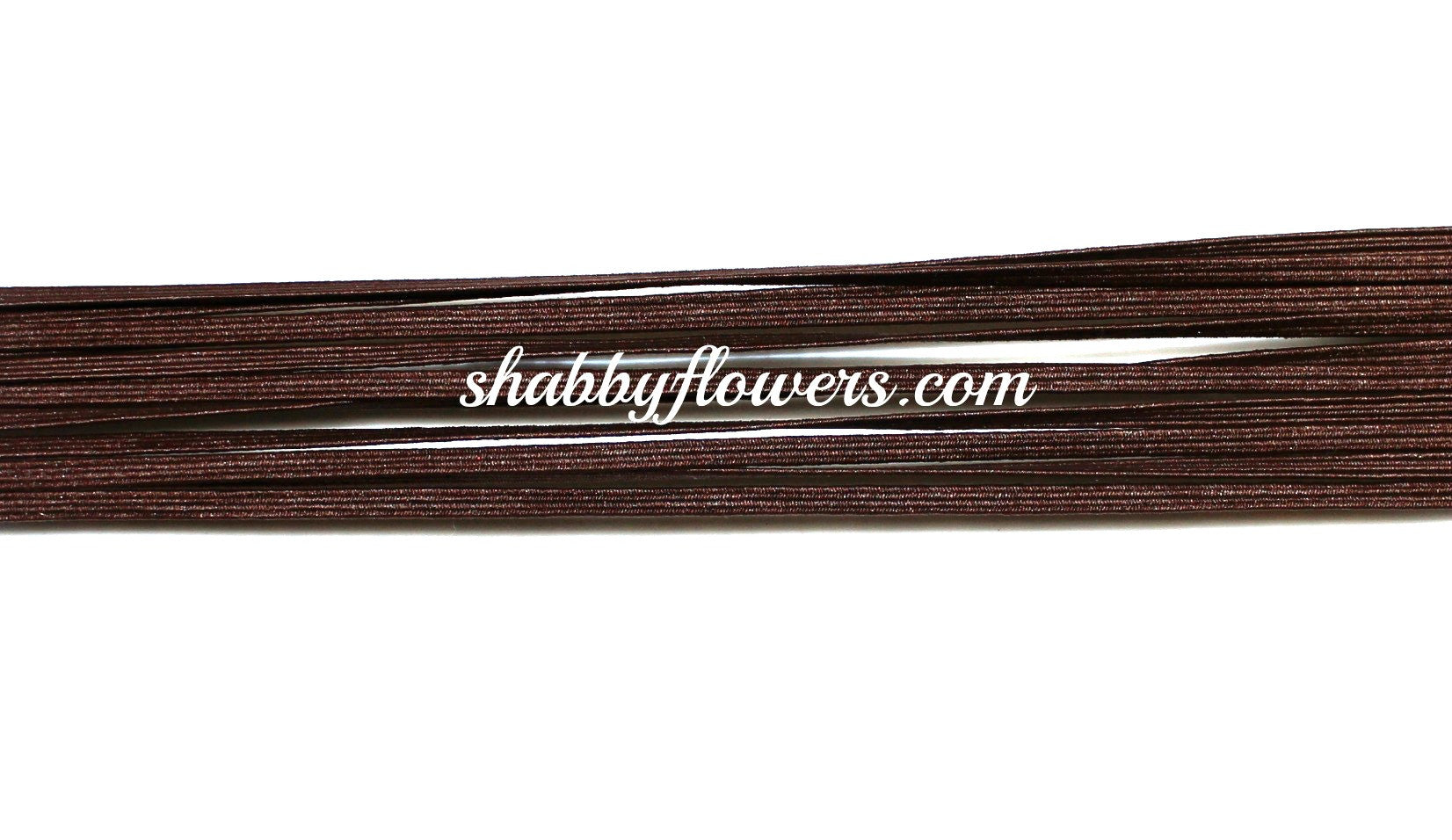 Skinny Elastic - Brown - shabbyflowers.com