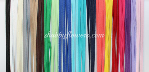 Elastic Pack - Skinny Elastic Pack of 10 Colors (4 3/4 yards each color)