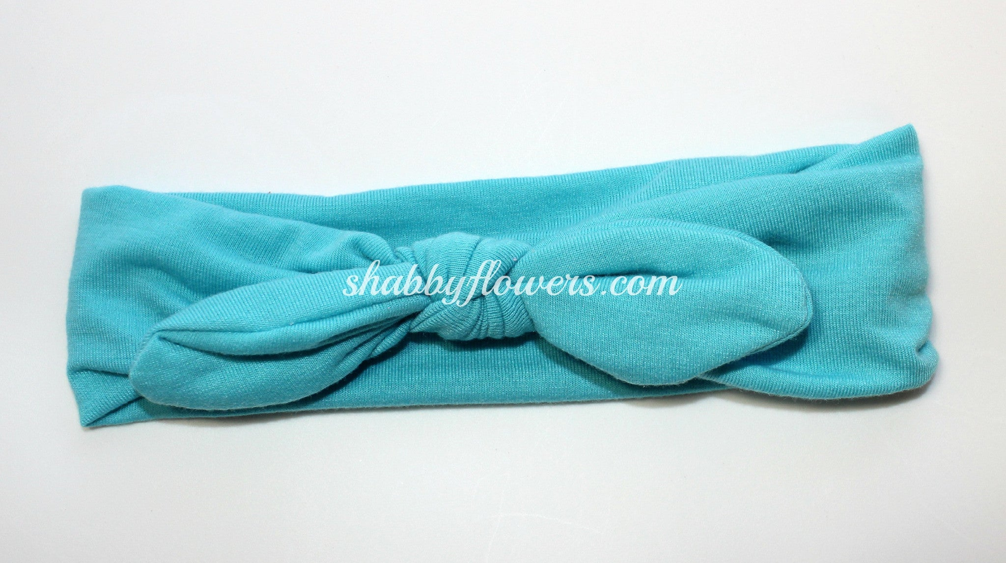 Knot Headband- Turquoise - Regular - shabbyflowers.com