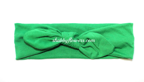 Knot Headband in Emerald Green - Regular