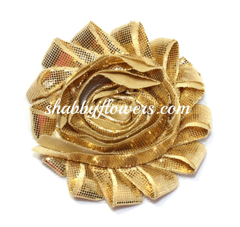 Shabby Flower - Metallic Gold