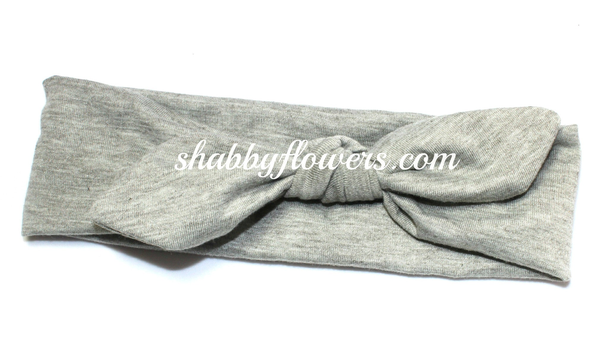 Knot Headband in Gray - Regular - shabbyflowers.com