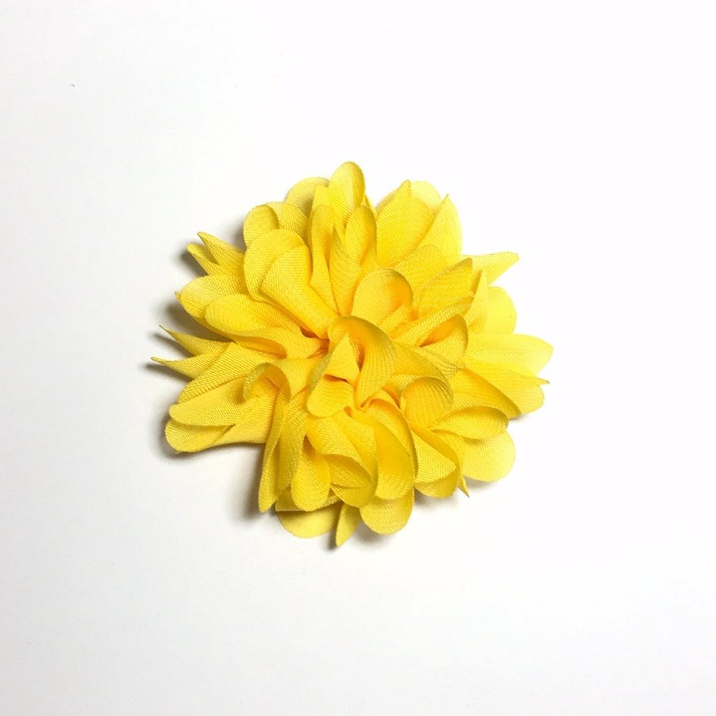 Scalloped Flower - Yellow - shabbyflowers.com