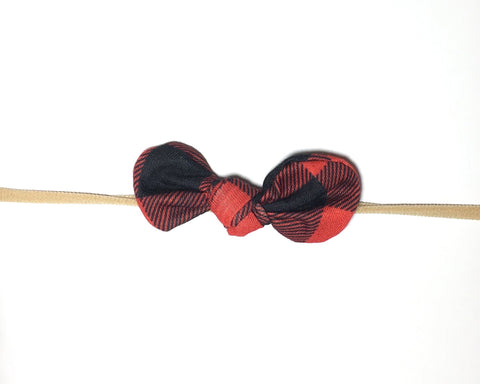 Nylon Knot Headband - Buffalo Plaid