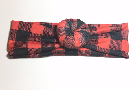 Bun Headband - Buffalo Plaid - Size Regular