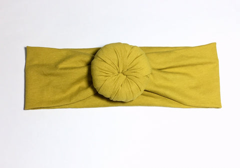 Bun Headband - Mustard - Size Regular