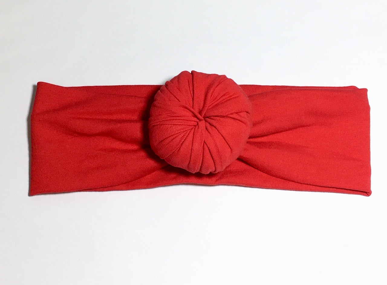 Bun Headband - Red - Size Regular - shabbyflowers.com