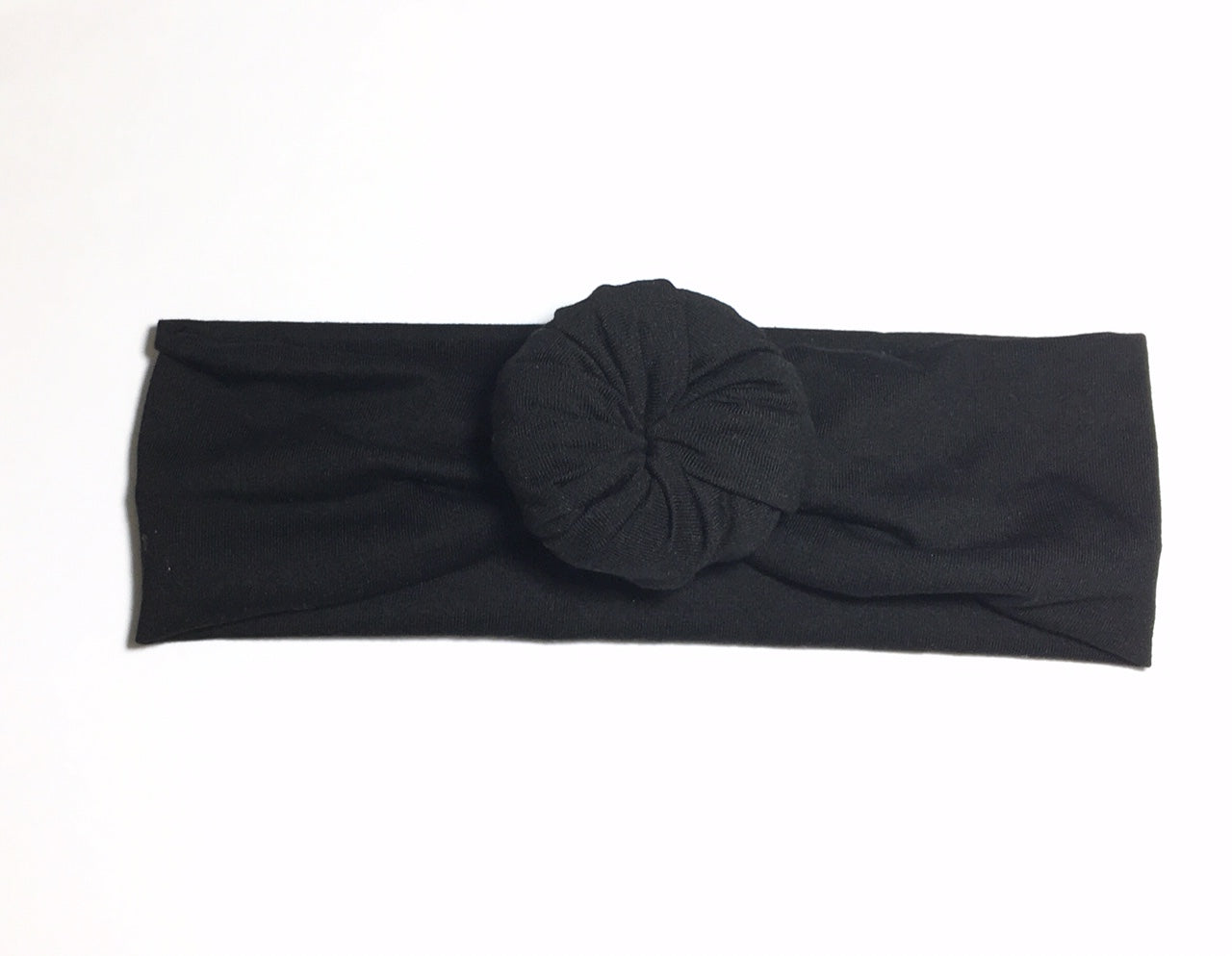 Bun Headband - Black - Size Regular - shabbyflowers.com